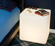 Light up your bedroom like never before with the illuminated night stand. Perfect for giving your bed area a modern look, this illuminated night stand is made from a durable plastic and is also available in other illuminated styles to suit your household needs.