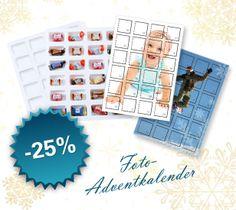 Advent, Advent,...! Vorweihnachtsaktion bei AustroBild! -25 Prozent auf Foto-Adventkalender (selbst befüllbar oder mit eigenen Fotos)! Gültig bis 25.11.2012!