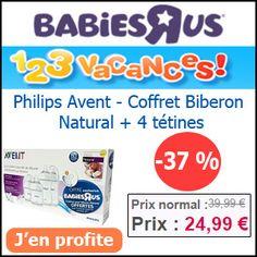 #missbonreduction; 1,2,3 vacances: réduction de 37 % pour votre commande sur le Philips Avent, Coffret Biberon Natural et 4 tétines chez Babiesrus. http://www.miss-bon-reduction.fr//details-bon-reduction-Babiesrus-i855465-c1825920.html