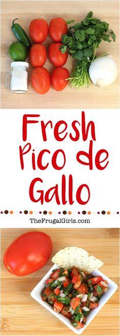 Easy Pico de Gallo Recipe {Fresh & Delicious} from TheFrugalGirls.com