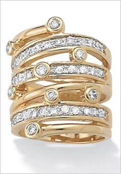 Plus Size Multi-Row Ring
