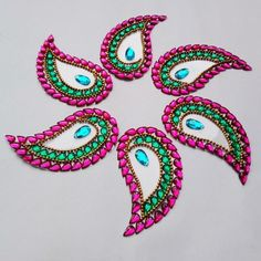 Kundan Rangoli.  This is so pretty and I love that it's pre-designed and ready to go and reusable!  Must look into this.