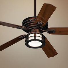"52"" Casa Vieja Mission II Bronze Outdoor Ceiling Fan -"