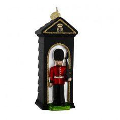 Royal Guardsman in sentry box glass tree decoration - Historic Royal Palaces online gift shop