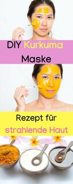 Turmeric mask for radiant skin, turmeric mask against pimples, turmeric mask - Hausmittel - Hautpflege Pimple Mask, Pore Mask, Acne Face Mask, Acne Skin, Pimples, Diy Face Mask, Rosacea, Turmeric Health, Turmeric Face Mask