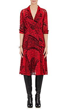 Corded Lace Flared Dress