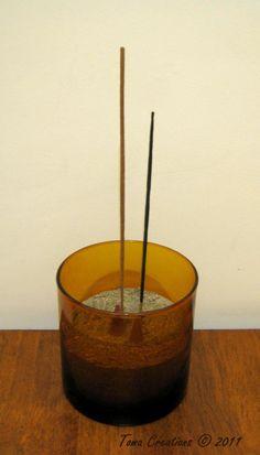 Super easy incense burner, stick and candle holder