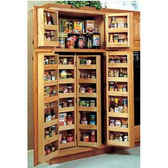 Chefs Double Pantry System by Omega National | KitchenSource.com #kitchensource #pinterest #followerfind
