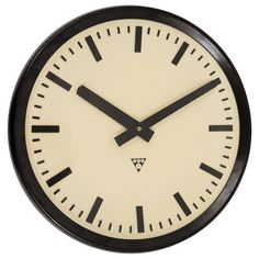 Very Big Bakelite Industrial Train Station Wall Clock at 1stdibs