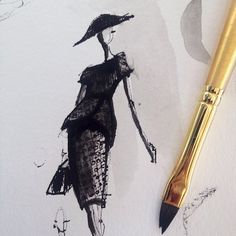 Sketching look from Christian Siriano's FW14 collection.
