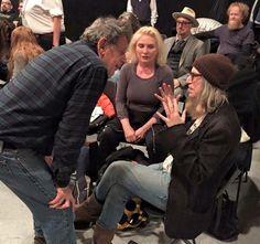 Patti avec Debbie et Philippe Glass