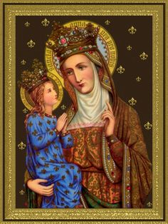 St. Anne, one of my new favorite Saints. I mean I've always know about the grandmother of Jesus, right?! But I have recently begun a relationship with this powerful intercessor. Look at my other pin about the holy shrine dedicated to her, thousands of miracles have taken place there! God Bless