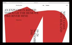 Pike River website on Behance