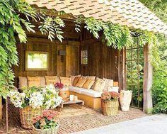 Salotto in giardino