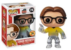 Amazon.com: Funko POP Television Leonard Star Trek Gold Shirt with Gun Vinyl Figure (SDCC Exclusive): Toys & Games