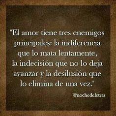 El amor tiene tres enemigos...