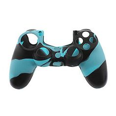 Blue Black Camo Silicone Gel Rubber Case Skin Grip Cover For Sony Ps4 Controller Silicone Case Cases Free Shipping Bringing More Convenience To The People In Their Daily Life Video Games