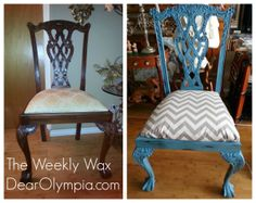 Our place - refurbished chair | decorations | Pinterest ...