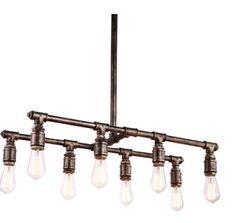 Industrial Lighting , Industrial Chandelier, Geometric,  Edison bulbs, Plumbing Pipe