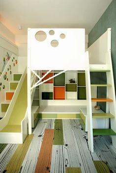 weird bed room for kid you sleep and slide #bad creative design
