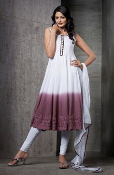 White & Wine Color Cotton Jacquard Material Casual Wear Salwar Suits
