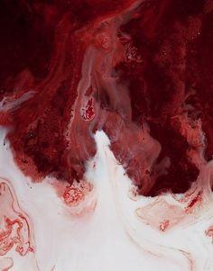 Blood & milk. Kinda gross but really pretty.