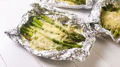 Introducing Your New Favorite Side: Cheesy Asparagus Foil Packs!Delish Grill Asparagus In Foil, Baked Asparagus, Asparagus Dishes, Grilled Asparagus Recipes, Grilled Food, Grilled Vegetables, Burritos, Grilling Recipes, Vegetable Recipes