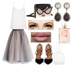 """""""#612"""" by isafl ❤ liked on Polyvore featuring beauty, Chicwish, Betsey Johnson, Aquazzura, DANNIJO, River Island, tenoverten and Chanel"""