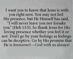 Jesus is with you right now