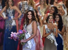 Miss Colombia Paulina Vega, a relative pageant newcomer, has been crowned Miss Universe, beating out first runner-up Miss USA Nia Sanchez and contestants from more than 80 other countries at Sunday's pageant in Miami. Miss Usa, Miss Univers 2015, Gq, Ukraine, Chi Hair Products, Vegas, Miss World, Beauty Pageant, Beauty Queens