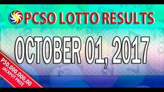 PCSO Lotto Result October 01, 2017 (6/58, 6/49, SWERTRES & EZ2 LOTTO)
