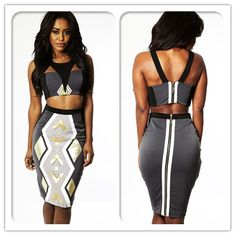 Patterned two piece