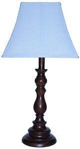 Amazon.com - Creative Motion Brown Base Resin Table Lamp, Light Blue