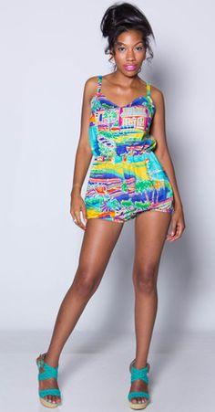 Jamaican mi Crazy vintage romper - iAMMI - Shop exclusive Vintage