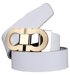 "Guan's Men's Smooth Leather buckle belt 35mm Leather (belt size 32""-35"", White.) - http://todays-shopping.xyz/2016/07/26/guans-mens-smooth-leather-buckle-belt-35mm-leather-belt-size-32-35-white/"