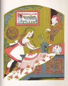 My Vintage Avenue !!! 50's and 60's illustrations !!!: Appolonia's Valentine by Katherine Milhous, 1954.