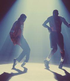 Micheal Jordan tries an MJ move