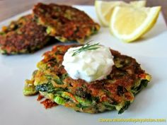 Greek Zucchini Fritters | Serve these delicious fritters hot from the skillet with a dollop of cool Tzatziki (see recipe below).  They make a lovely appetizer or even a light dinner served with a fresh Greek salad. | From: thefoodiephysician.com