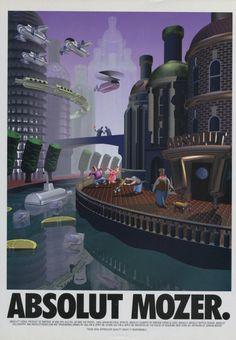 Jordan Mozer Absolut Mozer Vodka Ad Art Absolut Vodka Advertisement Advert