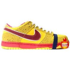 best service 48bce 911f6 Mens Nike SB Dunk Low Concepts Yellow Lobster