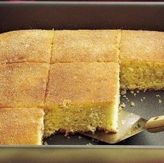 Everyone loves sassy cinnamon, especially when it's in coffee-cake form! The cake gets pierced and covered in melted butter once it's out of the oven, then a sweet and slightly spicy cinnamon-sugar mixture tops it all off. Make sure to serve this one warm—it tastes just like cake doughnuts!