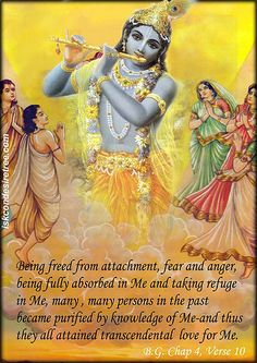 From the Bhagavad Gita Krishna Leela, Krishna Love, Krishna Radha, Hare Krishna, Rama Image, Indian Spirituality, Lord Shiva Family, Lord Vishnu Wallpapers, Srila Prabhupada