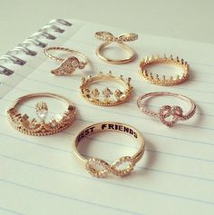 Great rings! Angel, forever, heart, queen and king..