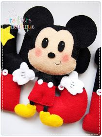 Mickey Mouse name garland theme