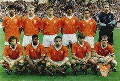 1993 Holland, Top, left to right: Franklin Edmundo 'Frank' Rijkaard,   Dennis Nicolaas Maria Bergkamp, Johannes Jacobus 'John'  Bosman, Rudi Dil 'Ruud' Gullit ,  Franciscus 'Frank' de Boer, Eduard Franciscus 'Ed' de Goey ,  Bottom, left to right: Dirk Franciscus 'Danny' Blind, Aron Mohamed Winter, Marc Overmars, Robert 'Rob' Witschge, Jan Jacobus Wouters