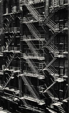 Fire Escapes, Chicago, 1947. by Ferenc Berkó