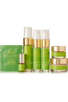 Instructions for use: See packaging for full instructions Regenerating Cleanser: 15ml/ 0.5fl.oz.; Hydrating Floral Essence: 15ml/ 0.5fl.oz.; Rejuvenating Serum: 10ml/ 0.3fl.oz; Repairative Moisturizer: 10ml/ 0.3fl.oz.; Replenishing Nutrient Complex: 3ml/ 0.3fl.oz.; Restorative Eye Crème: 1ml/ 0.03fl.oz.; Resurfacing Mask: 7.5ml/ 0.25fl.oz.