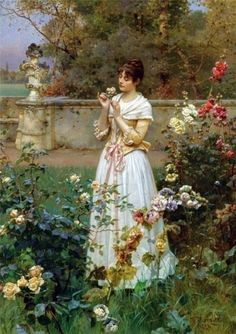 by Wilhelm Menzler Casel- I have this framed painting in the hall in my cottage
