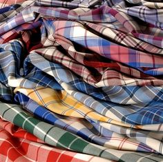 A tartan for every day of the week! Nice colour combination for a strip quilt!