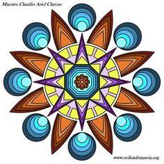 Mandala concentracion de la energia, el equilibrio y la conexion espiritual.